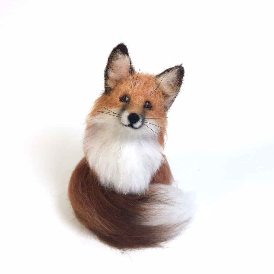 Felted Fox Sculpture: Firefly