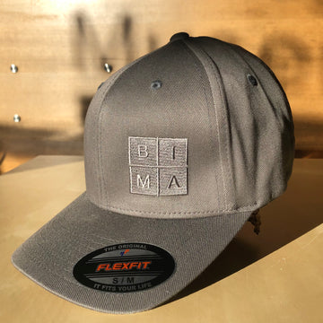 BIMA Logo Flexfit Cap in Grey