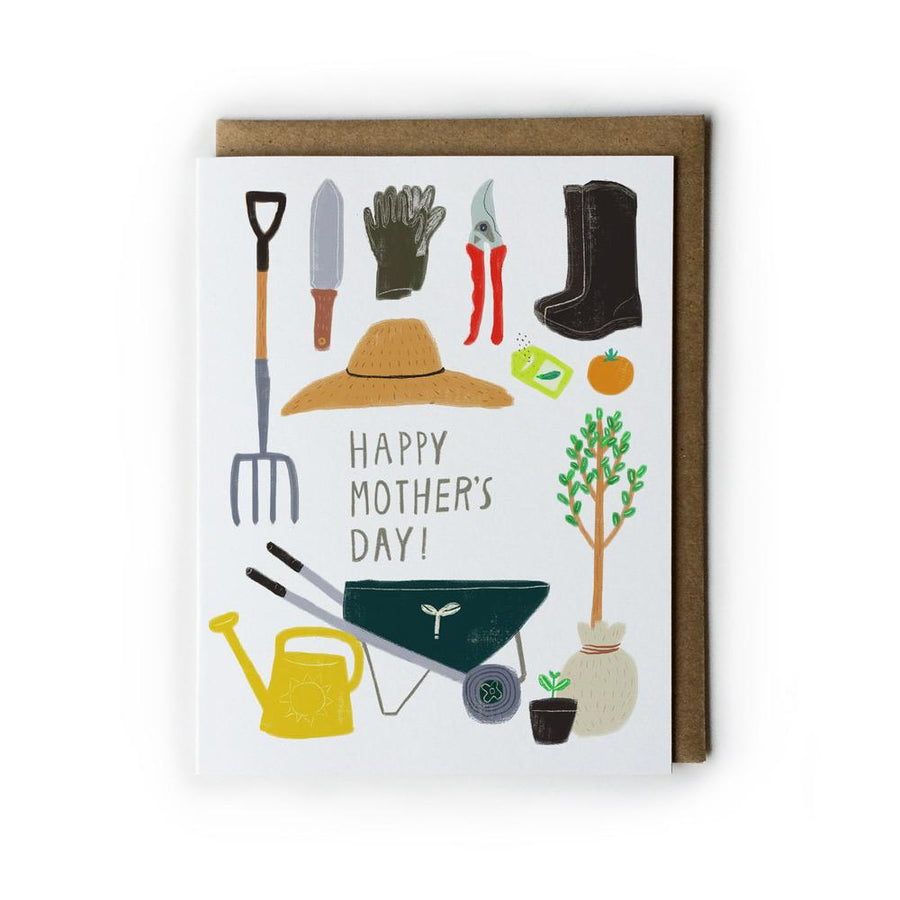 Gardening Mom Mother's Day Card by Honeyberry Studios