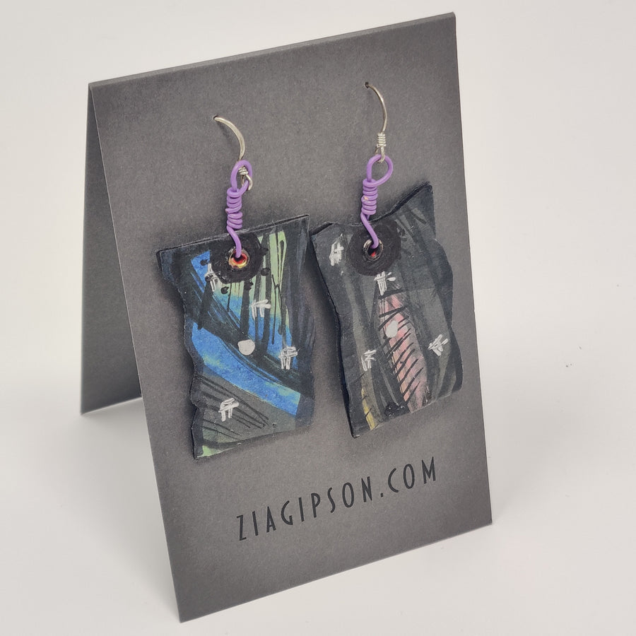 Periwinkle and Blue Earrings by Zia Gipson
