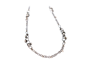 Calliope Sterling Silver and Freshwater Pearl Necklace