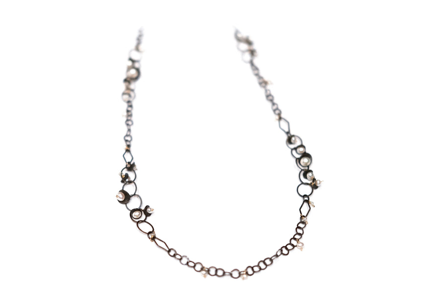 Sterling Silver and Freshwater Pearl Necklace by Calliope