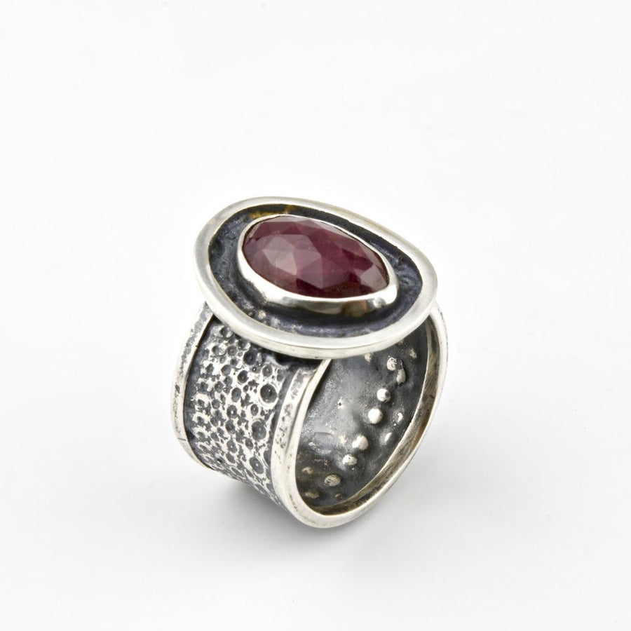 Ruby and Sea Urchin Ring