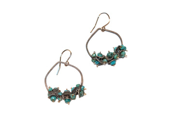 Calliope Turquoise and Sterling Silver Chip Earrings