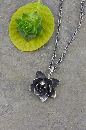 Large Sterling Sedum Necklace