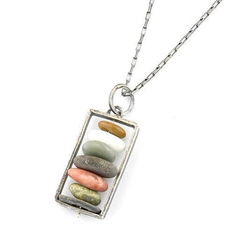 Cairn Pendant Necklace with Seven Stones