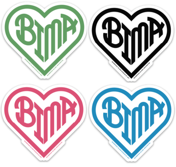 BIMA Heart Stickers