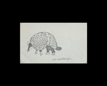 Original Pen and Ink Drawing by Woodleigh Marx Hubbard: Theo
