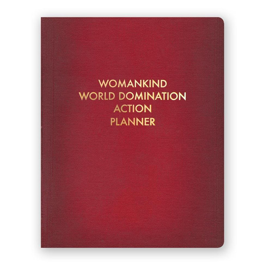 Womankind World Domination Action Planner Notebook
