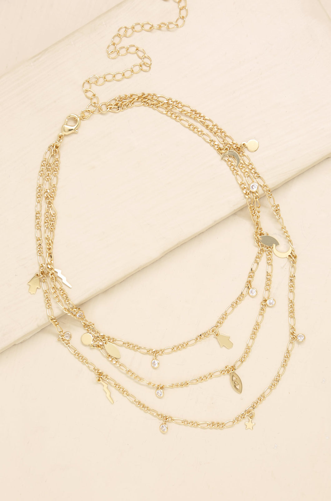 Mystic Triple Layer Choker in Gold