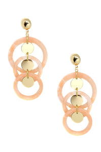 Seychelles Party Earrings in Peach and Gold