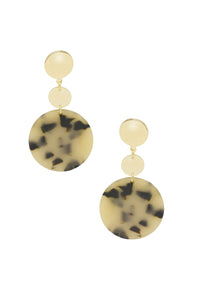 Santorini Resin Drop Circle Earrings in Light