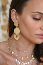 Load image into Gallery viewer, Ios Coin Statement 18k Gold Plated Earrings