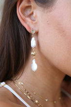 Load image into Gallery viewer, Freshwater Pearl Double Drop Earrings
