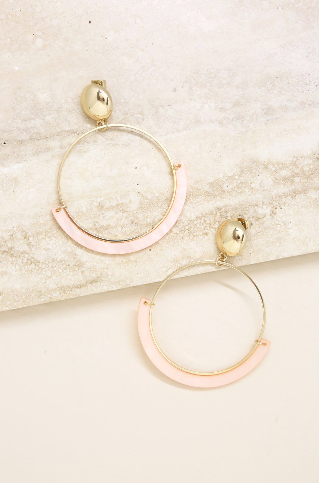 Starring Role Earring in Light Pink and Gold