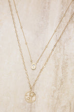 Load image into Gallery viewer, Layered Palm Tree 18k Gold Plated Necklace Set