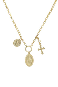 Faithful Charms 18k Gold Plated Necklace