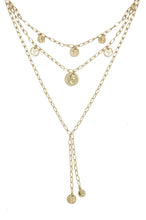 Load image into Gallery viewer, Mini Coin 18k Gold Plated Layered Necklace