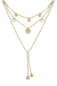 Mini Coin 18k Gold Plated Layered Necklace
