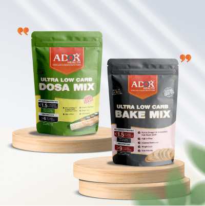 Perfect Ultra Low Carb Keto Pre- Mixes for Dosa & baking needs