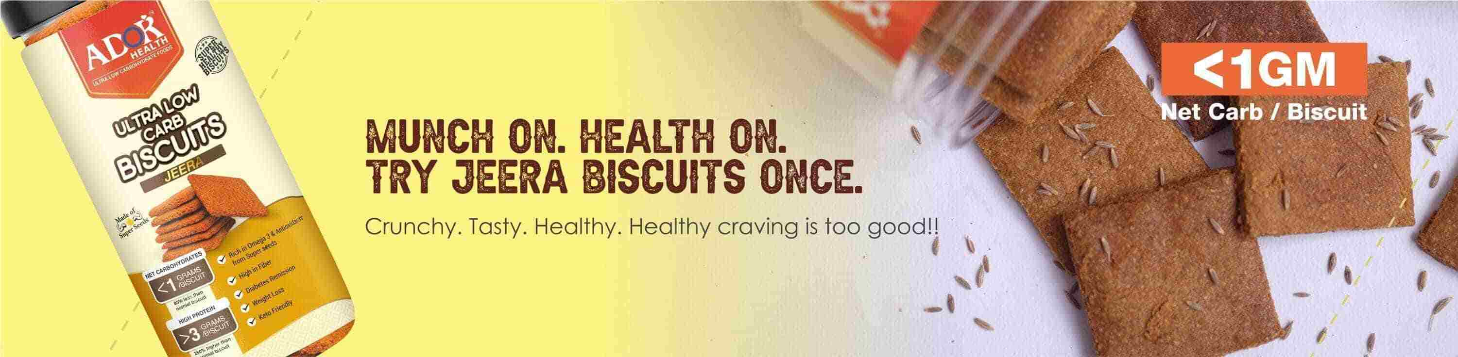 Ultra Low Carb Biscuits Jeera Flavour