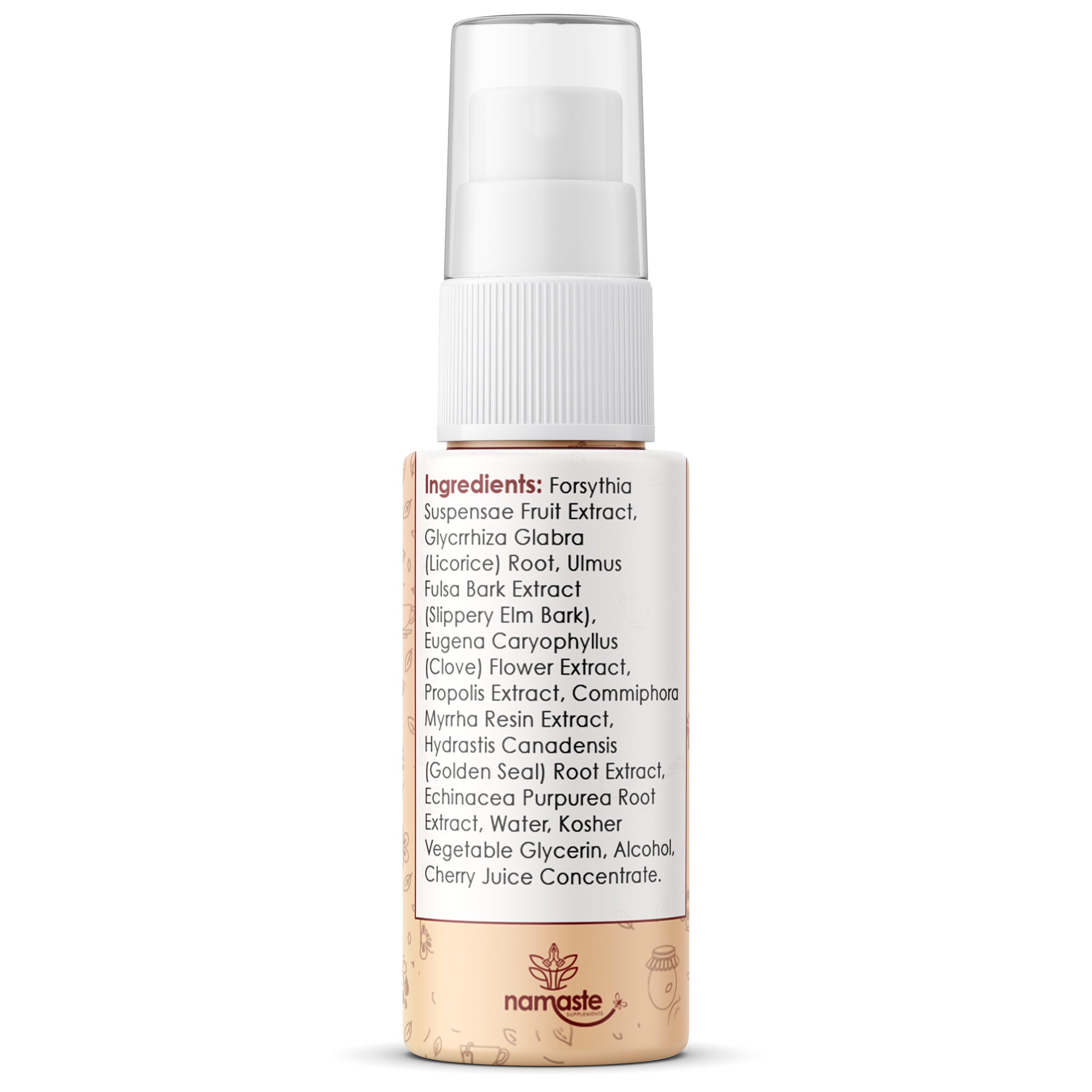 Namaste Supplements - Bee Propolis & Herb Throat Spray |  1oz