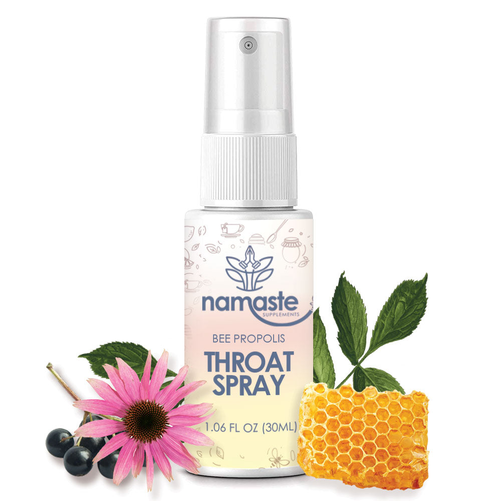 Namaste Supplements - Bee Propolis Throat Spray |  3-Pack
