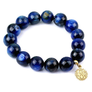 Exclusive Kyanite Bracelet with Gold Plated Bead