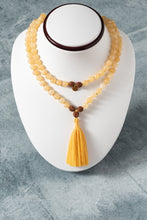 Load image into Gallery viewer, Yellow Jade Mala