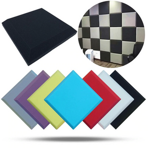 Acoustic Foam Panels - Flat Tile - 2 Inches Thick (20x20) - 4 Pcs