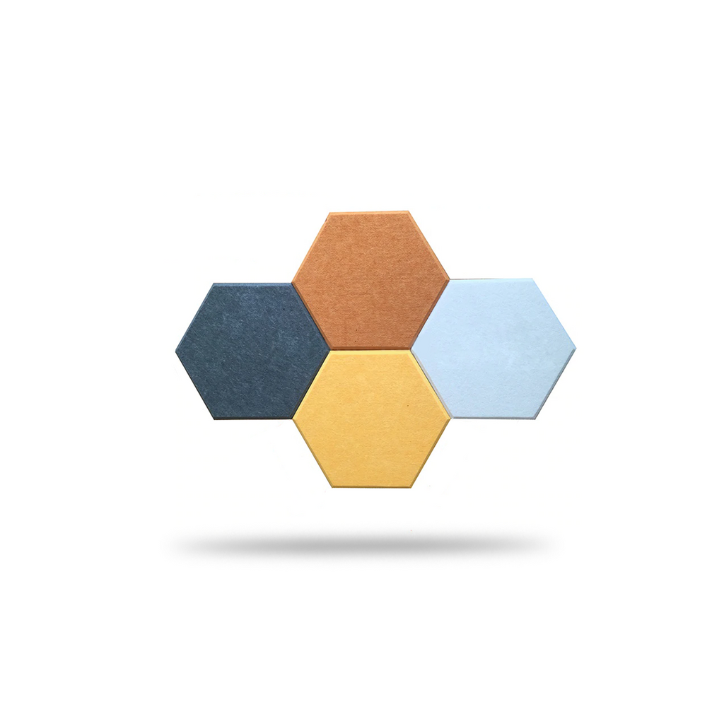 Hexagon Acoustic Panels - 10 Pcs