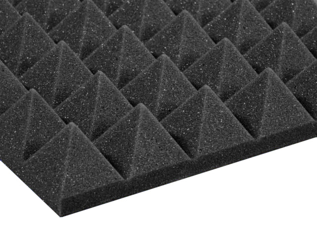 Premium 2 Inch Pyramid Acoustic Foam Panel - Charcoal