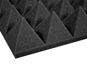 Premium 3 Inch Pyramid Acoustic Foam Panel - Charcoal