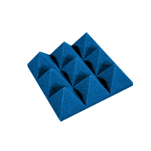 Premium 4 Inch Pyramid Acoustic Foam Panel - Colored