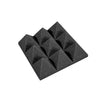Premium 4 Inch Pyramid Acoustic Foam Panel - Charcoal
