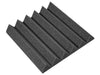 Premium 2 Inch Wedge Acoustic Foam Panel - Charcoal