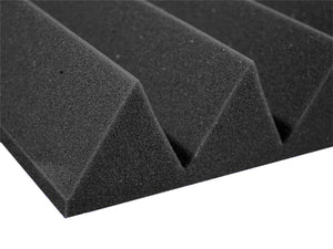 Premium 3 Inch Wedge Acoustic Foam Panel - Charcoal
