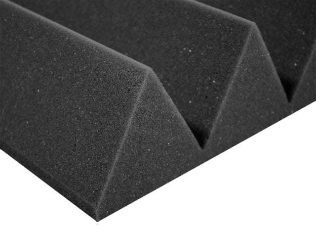 Premium 4 Inch Wedge Acoustic Foam Panel - Charcoal