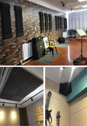 Premium 1 Inch Wedge Acoustic Foam Panel