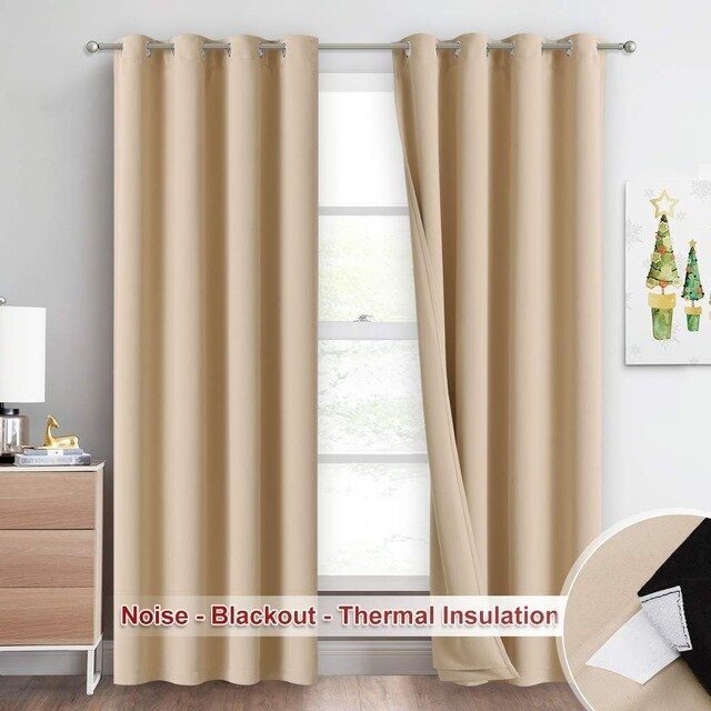 Premium Noise Reducing Curtain with 3 Layers