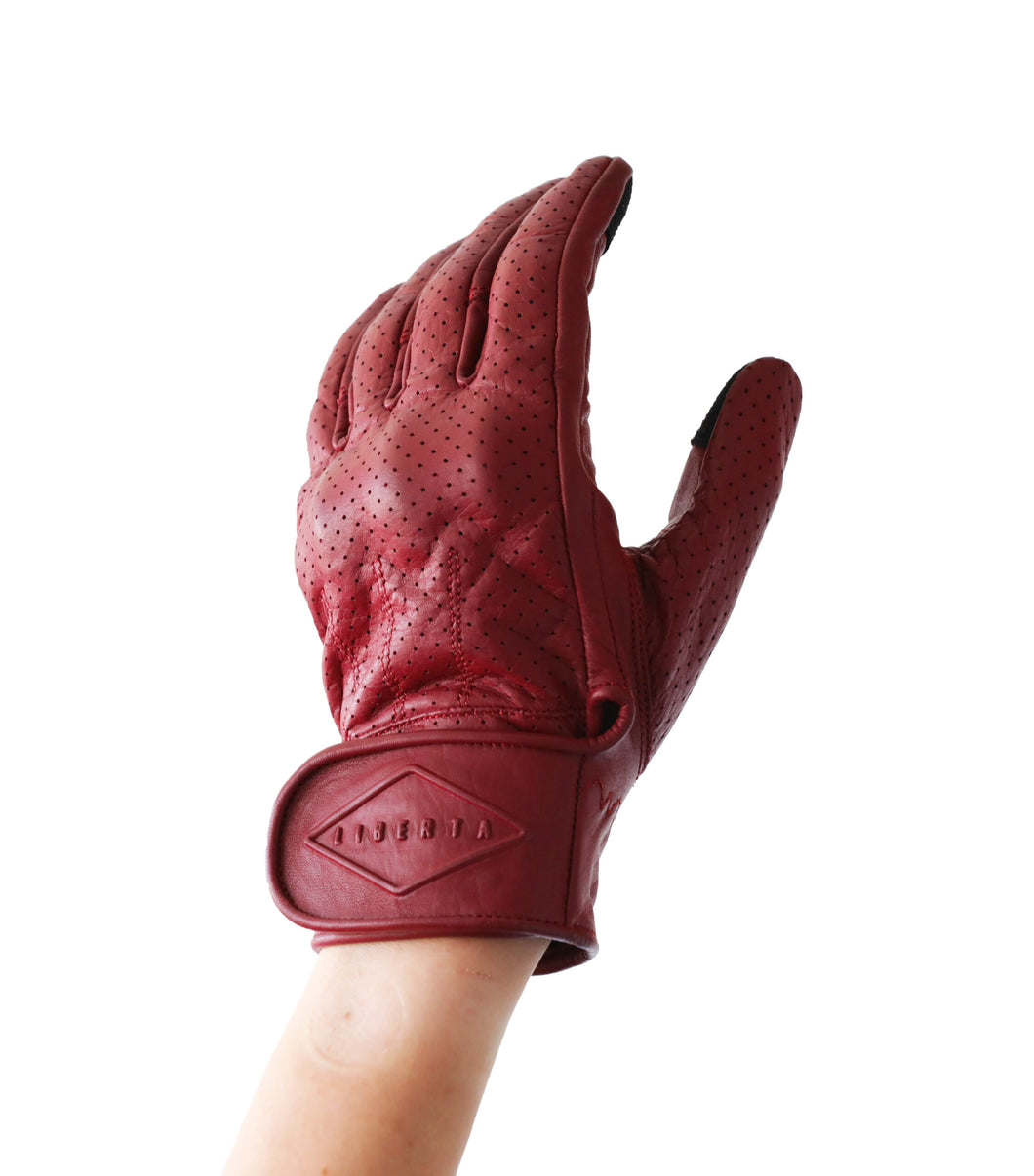 Beetle Gloves w/Knuckle Armor Red