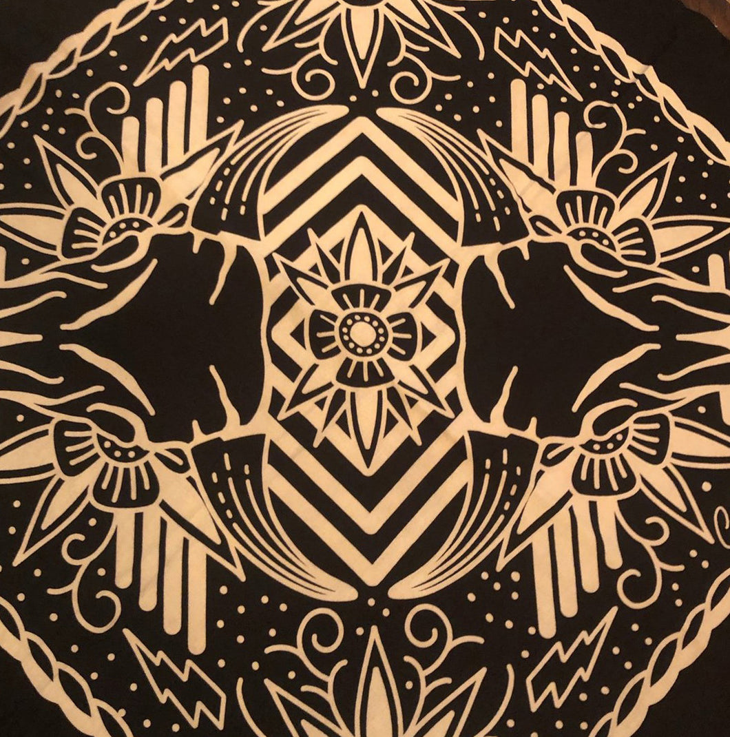 Tattoos Bandana Black/White