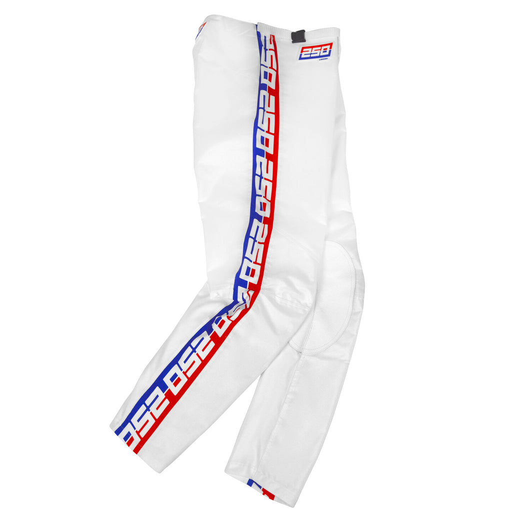 Retro Motocross Pants White