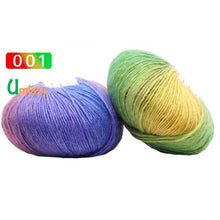 Load image into Gallery viewer, 1pc Cashmere Yarn Knitted Chunky Hand-Woven Woolen Rainbow Colorful Knitting Scores 100% Wool Yarn Needles Crochet Weave Thread