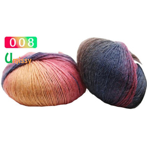 1pc Cashmere Yarn Knitted Chunky Hand-Woven Woolen Rainbow Colorful Knitting Scores 100% Wool Yarn Needles Crochet Weave Thread