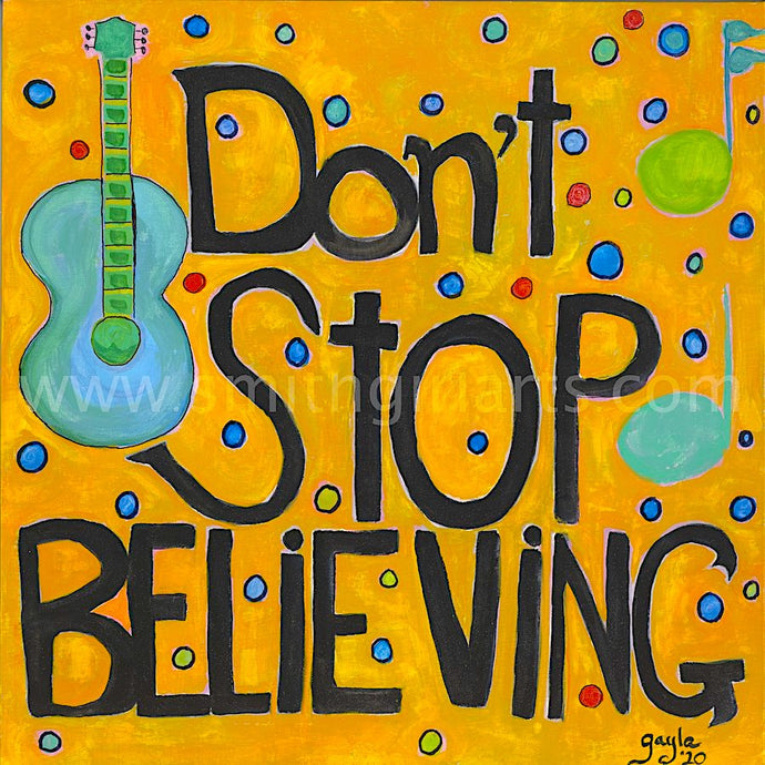 Don't Stop Believing' A Pandemic Blog Post