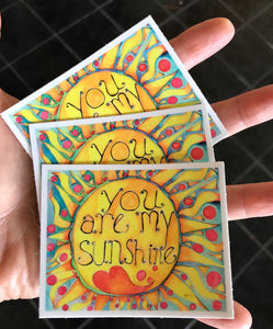 You Are My Sunshine Stickers 3 Pack