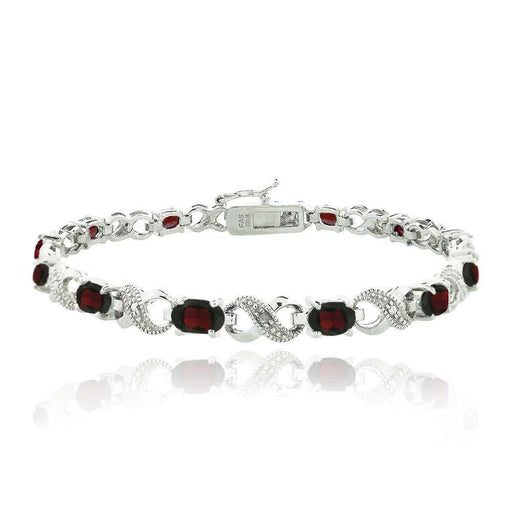10.00 CT Genuine Ruby Infinity Bracelet Jewelry Silver Milo