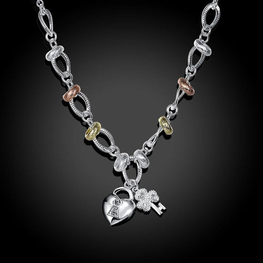 5 Stands Necklace in 18K White Gold Plated Jewelry Silver Milo