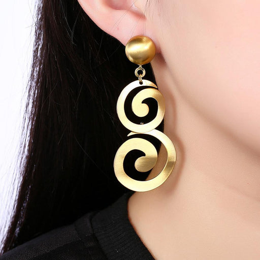 Alzira Drop Earring in 18K Gold Plated Jewelry Silver Milo